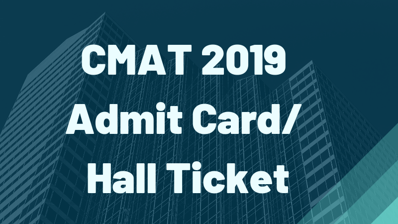 How and where to download CMAT Admit card?